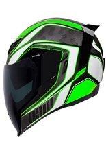 Full face helmet Icon Airflite Raceflite green