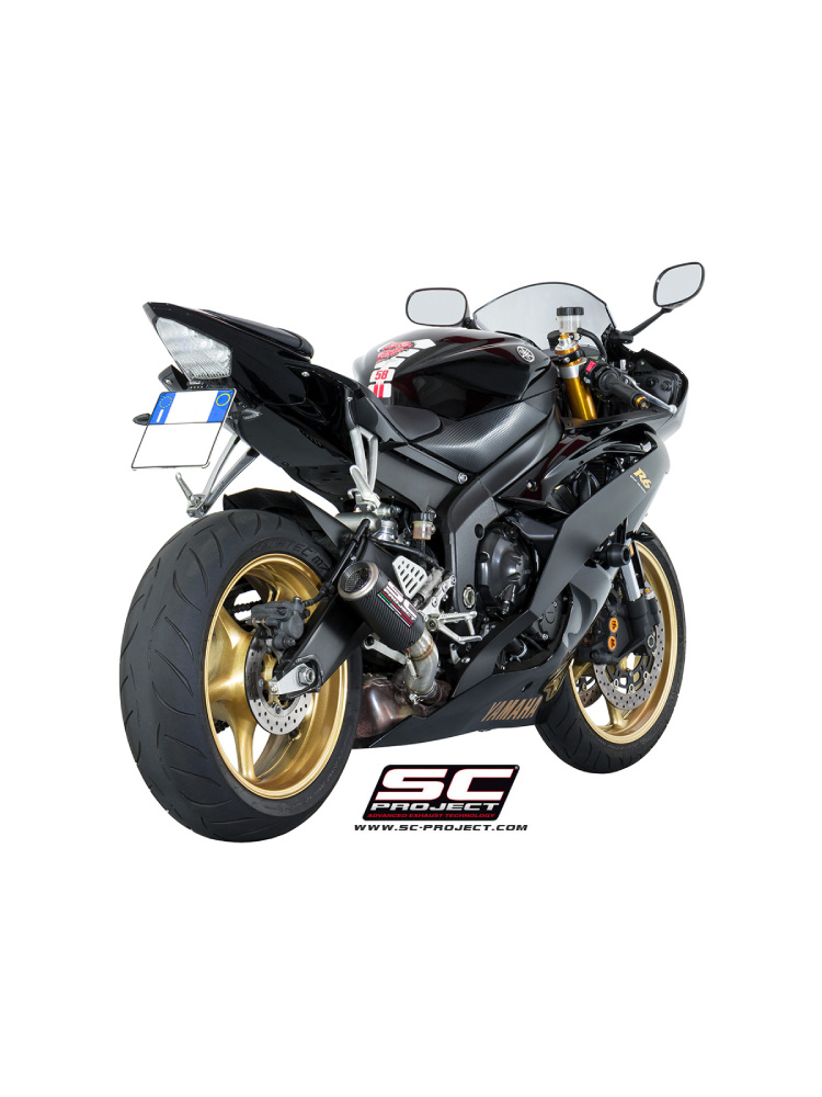 CR-T Slip-on silencers SC-Project for Yamaha YZF R6 [06-16