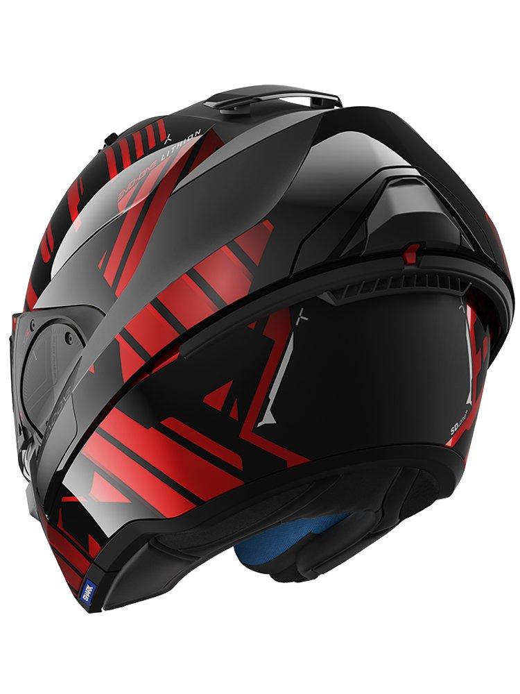 flip up helmet shark evo one 2 lithion moto. Black Bedroom Furniture Sets. Home Design Ideas