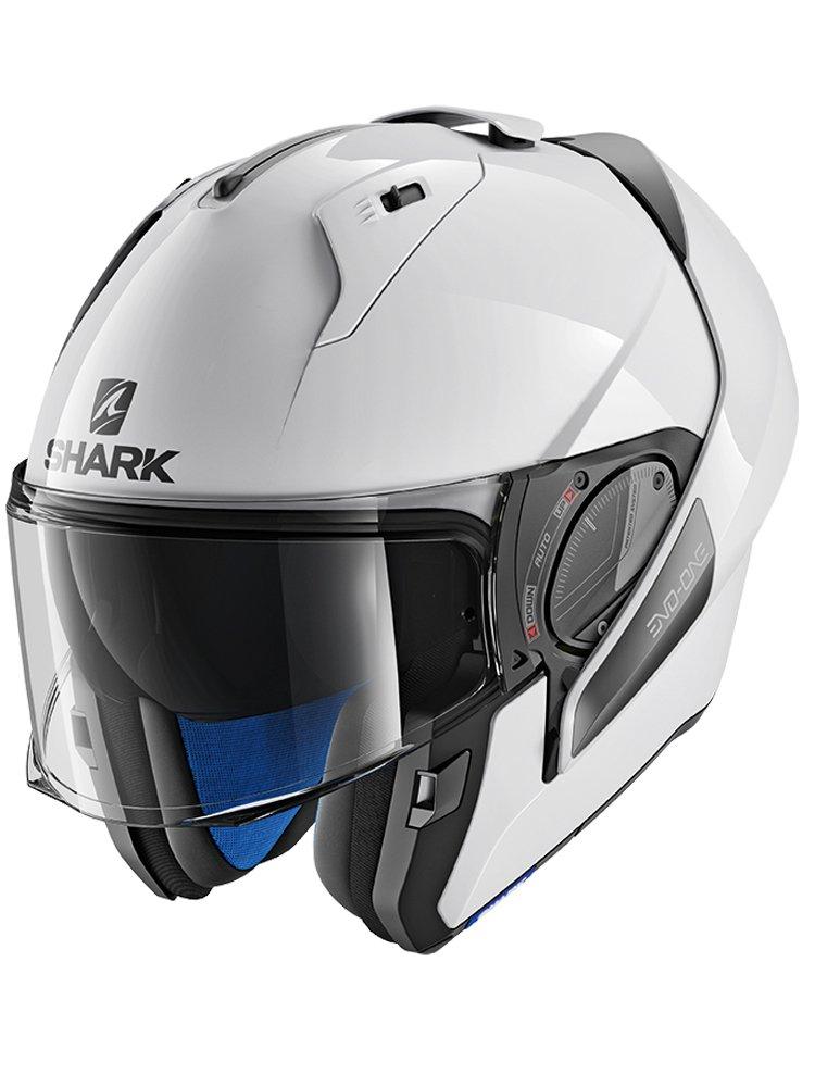 flip up helmet shark evo one 2 blank moto. Black Bedroom Furniture Sets. Home Design Ideas