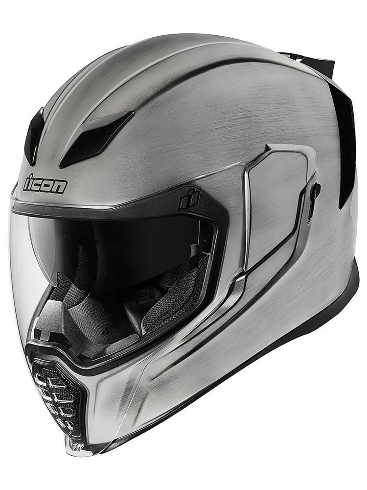 White Icon Airflite Full Face Motorcycle Helmet