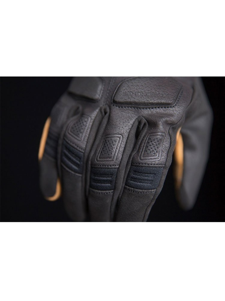 Icon 1000 Nightbreed Mens Leather Motorcycle Gloves Black