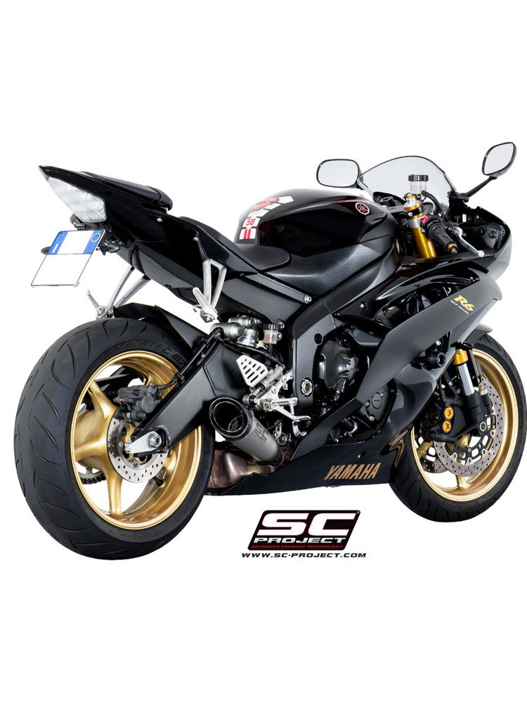 S1 Slip-on silencers SC-Project for Yamaha YZF R6 [06-16