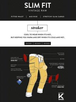 Cargo trousers John Doe Cargo Stroker black