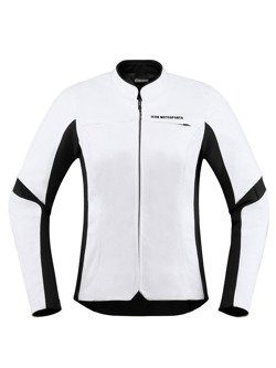 Icon Motorcycle Jacket Overlord Leather Women white