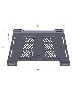 Rear enlargement plate Hepco&Becker Suzuki V-Strom 650 ABS / XT [17-]