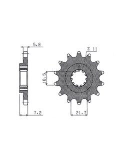 Front sprocket SUNSTAR 361 [14 tooth]