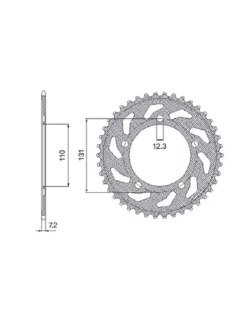 Rear sprocket SUNSTAR 1-4467 [45 tooth]
