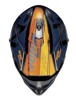 Kask Off-Road Nolan N53 Whoop niebiesko-pomarańczowy matowy