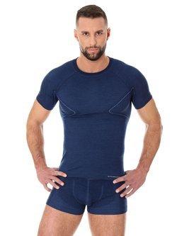 Koszulka męska BRUBECK ACTIVE WOOL z krótkim rękawem