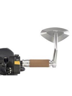 Manetki PUIG Hi-Tech Vintage do kierownic 22 mm (srebrne)