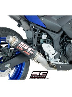 Pełny system 2-1 z tłumikiem GP M2 SC-Project do Yamaha YZF-R3 [15-17]