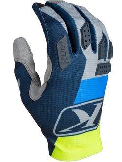 Rękawice motocyklowe Klim XC Lite niebieskie-fluo