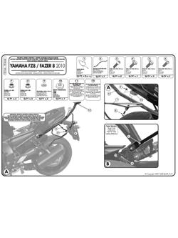 Stelaż Givi pod sakwy Easylock do Yamaha FZ8 / Fazer 8 800 (10 > 16)
