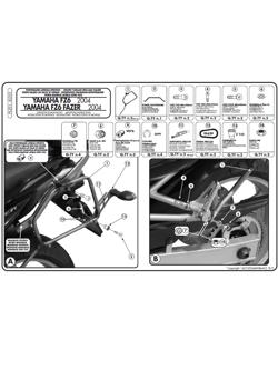Stelaże Givi pod kufry boczne Monokey do FZ6 / FZ6 Fazer (04 > 06)