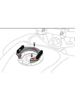 Tankring Lock-it Hepco&Becker modele Suzuki [5 otworów montażowych]