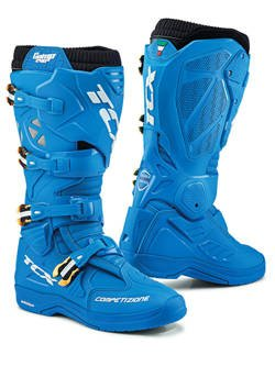 Buty enduro TCX Comp Evo 2 Michelin błękitne