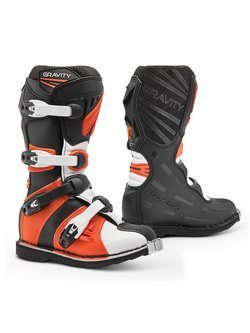 Buty enduro dziecięce Forma Gravity czarno-pomarańczowe