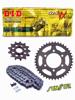 Zestaw napędowy Kawasaki ZR1100 ZEPHYR 91-98 DID50(530) VX ZŁOTY (X-ring wzmocniony) zębatki SUNSTAR